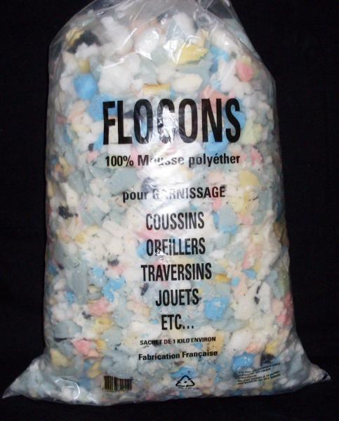 flocons de mousse poly ther le sac 1kg atelier conseils. Black Bedroom Furniture Sets. Home Design Ideas