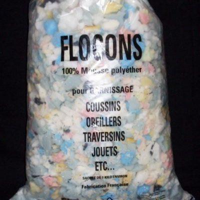 Flocons de mousse polyéther, le sac 1Kg
