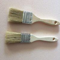pinceau plat poils de soie
